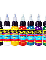 Solong Tattoo Ink 7 Colors Set 1oz 30ml/Bottle Tattoo Pigment Kit