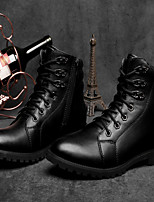 Men's Shoes Outdoor / Office & Career / Casual Leather Boots Black