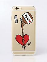 Para Funda iPhone 6 / Funda iPhone 6 Plus Ultrafina / Transparente / Diseños Funda Cubierta Trasera Funda Dibujos Suave TPUiPhone 6s