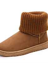 Women's Low Heel Snow Boots / Round Toe / Closed Toe Boots