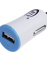 BTY M601 1A USB High-Speed Mini Car Charger - White + Blue