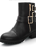 Women's Shoes Leatherette Platform Pointed Toe Boots Casual Black / Brown
