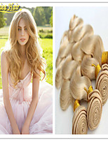 3 Pcs/Lot #613 Blonde Virgin Hair 100G/Pcs Blonde Human Hair Extensions Sell Cheap Unprocessed Virgin Human Hair Blonde