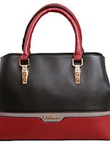 Women PU Shopper Shoulder Bag / Tote - Blue / Red / Black / Fuchsia