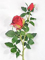 Creative Household Adornment Polyester Roses Artificial Flowers(1PC)