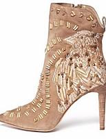 Women's Shoes Fleece Stiletto Heel Bootie Boots Office & Career / Party & Evening / Dress Beige