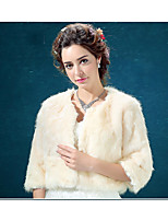 Wedding / Party/Evening / Office & Career / Casual Faux Fur Shawls / Collars / Capelets / Boleros Long Sleeve Wedding  Wraps