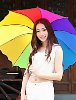 мода нейлон / металл семьдесят процентов от многоцветной зонтиком современный / современный / вскользь (цвет случайный)