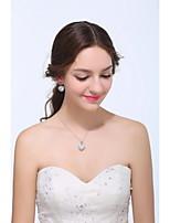 Women's Silver / Alloy Jewelry Set Rhinestone / Cubic Zirconia