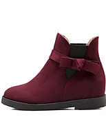 Women's Shoes Leatherette Low Heel Fashion Boots Boots Outdoor / Dress / Casual Black / Green / Red