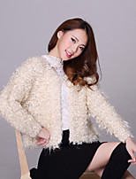 Women's Solid Red / White / Beige Cardigan , Casual Long Sleeve