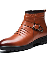 Men's Shoes Office & Career / Casual Leather Boots Black / Brown