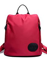 Women Nylon Bucket Backpack / Travel Bag - Purple / Blue / Red / Black / Burgundy