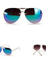 Women's 100% UV400 flyer Mirrored Flowers Metal Sunglasses