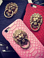 Lion Head Snakeskin Pattern Back Cover for iPhone 6s 6 Plus with Kickstand