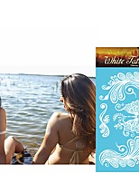 King Horse White Henna Tattoo Stickers Non Toxic/Tribal/Hawaiian/Waterproof Flower Series Paper 5pcs 20.5*10cm