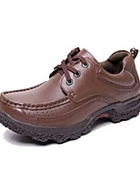 Men's Shoes Outdoor / Office & Career / Casual Leather Oxfords Burgundy