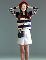 Women's Casual Long Sleeve Striped Sweaters(More Color)