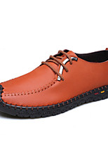Men's Shoes Office & Career / Casual Leather Oxfords Black / Blue / Brown / Yellow
