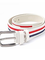 Men's PU Striped Waist Belt , Party / Casual Leather