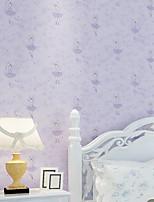 Contemporary Wallpaper Art Deco 3D Dance Little Girl Wallpaper Wall Covering Non-woven Fabric Wall Art