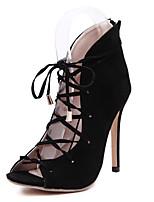 Chaussures Femme-Mariage / Bureau & Travail / Sport / Soirée & Evénement / Habillé / Décontracté-Noir-Talon Compensé-Talons / Bateau /