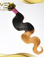 bom cabelo ombre corpo onda cabelo humano virgem peruano barato tece 2 tom 1b / 27 cores 1pcs apenas 8 '' - 30 ''