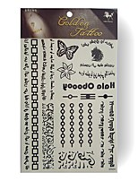 RFK04 King Horse Tattoo Stickers Non Toxic / Tribal / Hawaiian / Waterproof Flower Series Child  5pcs