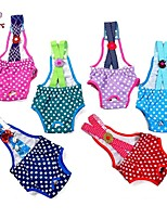 FUN OF PETS® Lovely Dots Suspenders Design Physical Pant for Pets Dogs (Assorted Sizes and Random Color)