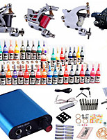 Tattoo Machine Complete Kit Set 4Guns Machines 40 PCS tattoo ink Tattoo kits