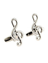 Classical music notation cufflinks man