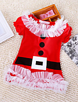 Girl's Red Dress , Dresswear Cotton Blend Winter