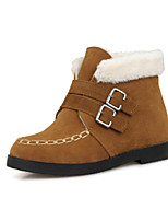 Women's Shoes Fleece Wedge Heel Fashion Boots Boots Party & Evening / Dress Black / Yellow
