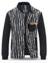 Men's Long Sleeve Jacket , Cotton / Polyester / PU Casual / Work / Sport Print