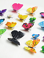 12 Pcs Per Set PVC 3D Butterfly Wall Stickers Decals Home Decor Adhesive to Wall Decoration Adesivo De Parede