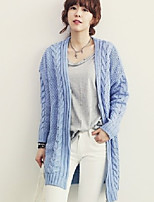 Women's Solid Blue / Almond / Gray Cardigan , Casual Long Sleeve