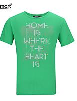 Lesmart Men's Casual Soft Pure Cotton Letters Pattern Printing Neck Collar Slim Fit T-Shirts