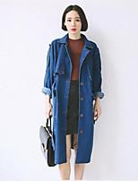 Cappotto Da donna Vintage Denim