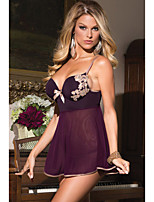 Women's 2 Pieces Microfiber and Mesh Babydoll