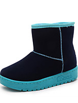 Women's Shoes Nappa Flat Heel Snow Boots Boots Outdoor / Casual Blue / Pink