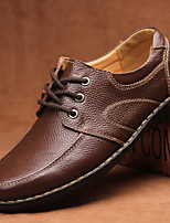 Men's Shoes Office & Career / Casual Leather Oxfords Black / Brown / Yellow