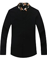 Men's Stretch Cotton Slim Fit Long Sleeve Knit Shirt