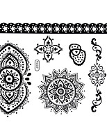 BlackLace Henna Body Temporary Sexy Tattoos Sticker For Women,Teens,Girls(7 Patterns in 1 Sheet) J006