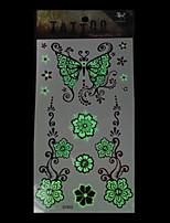 5pcs - Séries de fleur - Blanc - Motif - 20.5*10cm - Tatouages Autocollants - King Horse - Enfant / Homme / Girl / Adulte / Adolescent