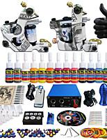 Solong tatouage kit de tatouage complète 2 Pro mitrailleuses 14 encres alimentation poignées d'aiguilles