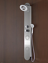 Shower Faucet Contemporary Waterfall / Rain Shower / Sidespray / Handshower Included Stainless Steel Nickel Brushed