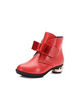 Girls' Shoes Party & Evening / Dress / Casual Fashion Boots Leatherette Boots Black / Red