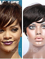 Premierwigs 8A Short Curly Rihanna Style Natural Color Capless Brazilian Virgin Human Hair Wigs For Black Women