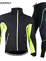 Nuckily Men's Fleece Winter Thermal Bicycle Cycling Suits Windproof Jacket