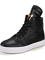Men's Fashion Casual Shoes Hight-top Microfiber Board Flats Shoes